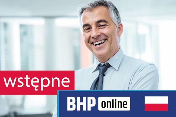 Szkolenie okresowe BHP dla  Szkolenie wstępne BHP dla osób kierujących pracownikami